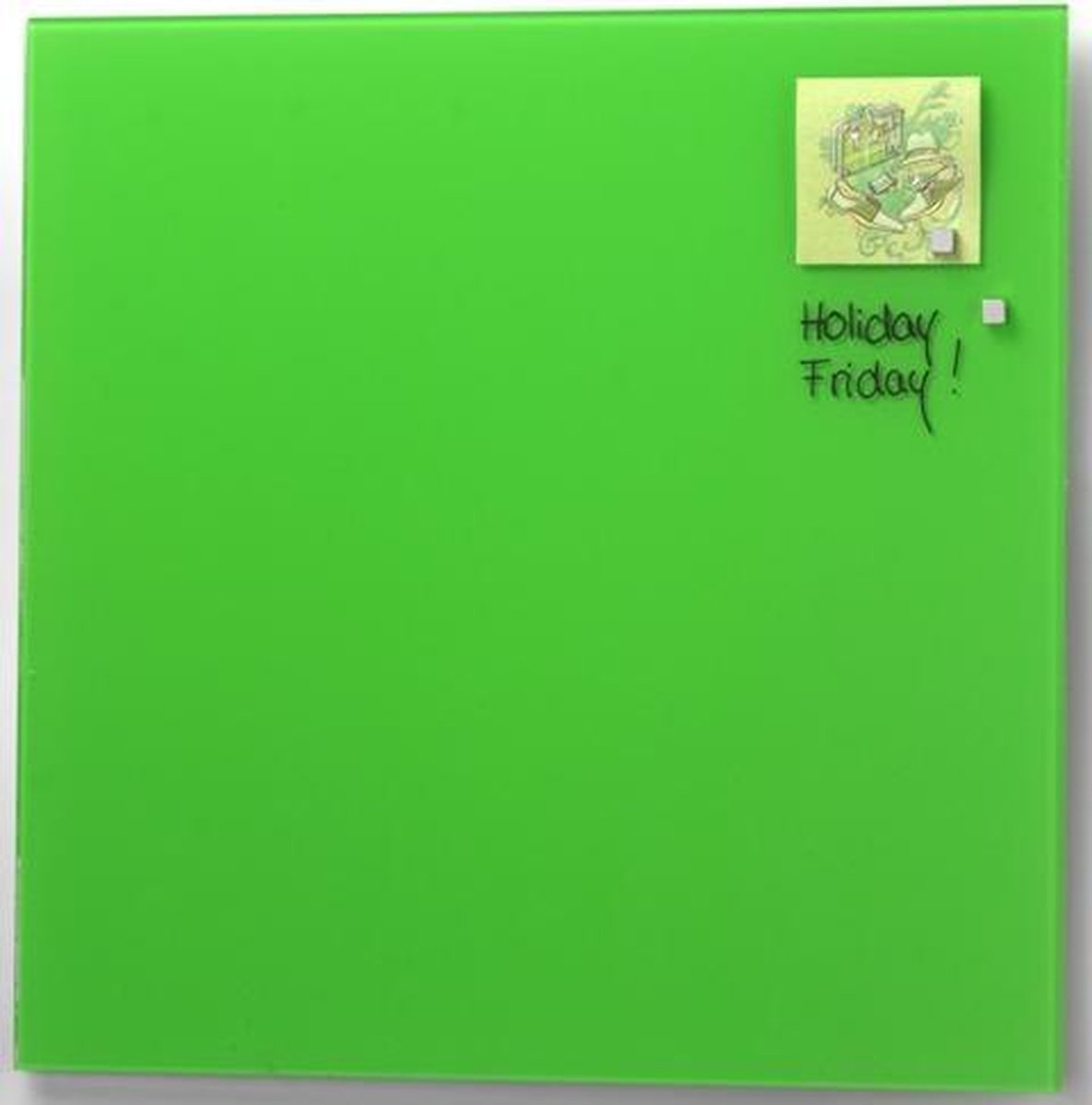 NAGA Glassboard 100x100cm Licht Groen