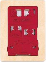 Hape Houten puzzel London bus 5 stukjes