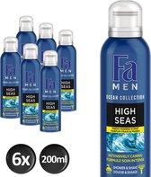 Fa Men High Seas Doucheschuim - 200 ml - 6 stuks - Voordeelverpakking