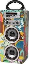 Pure acoustics MCP20GRA - Portable karaoke systeem met bluetooth, USB, SD en FM radio