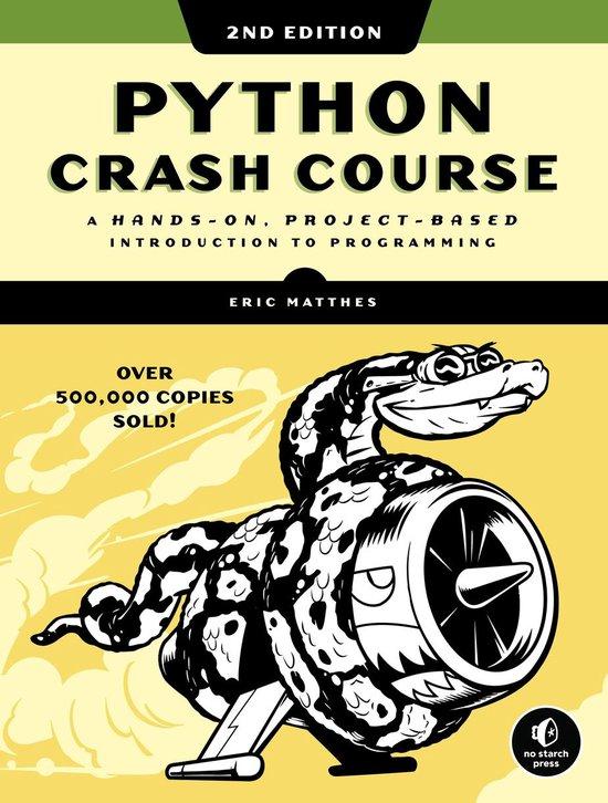 Boek cover Python Crash Course (2nd Edition) van Eric Matthes (Paperback)