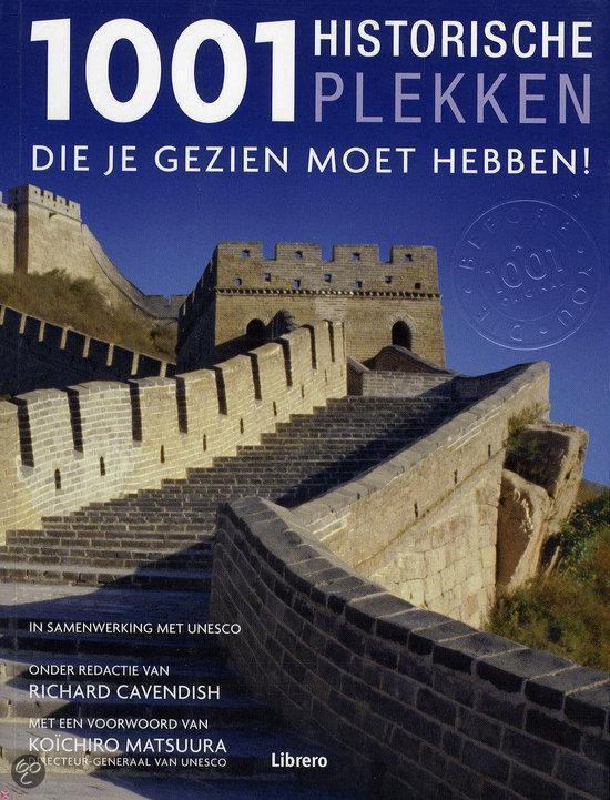 Cover van het boek '1001 Historische plekken' van Richard Cavendish