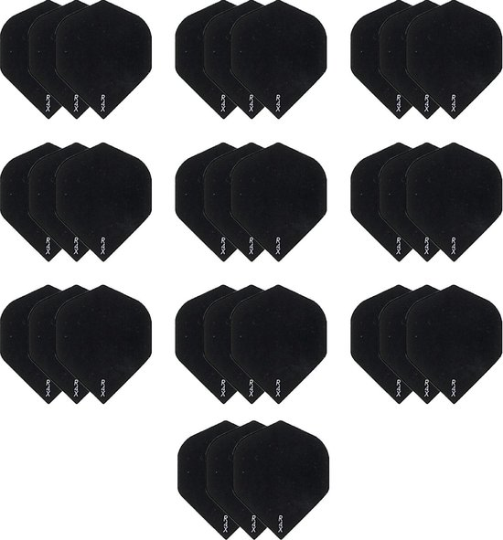 Afbeelding van het spel 10 Sets (30 stuks) Dragon darts R4x - dart flights - Multipack - Zwart - darts flights