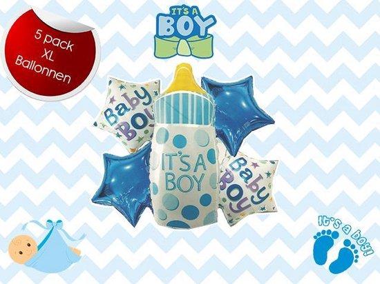 Geboorte Ballonnen - Its A Boy - Aluminium Ballonnen - 5 Pack