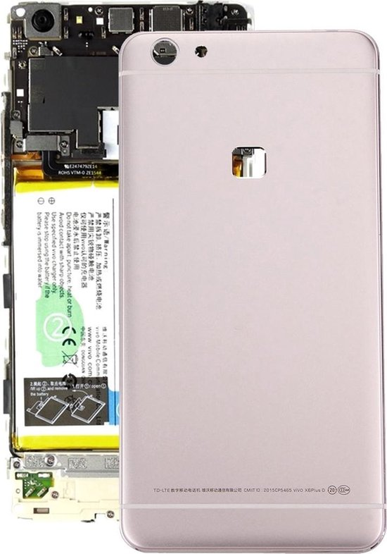 Let op type!! For Vivo X6 Plus Battery Back Cover(Gold)