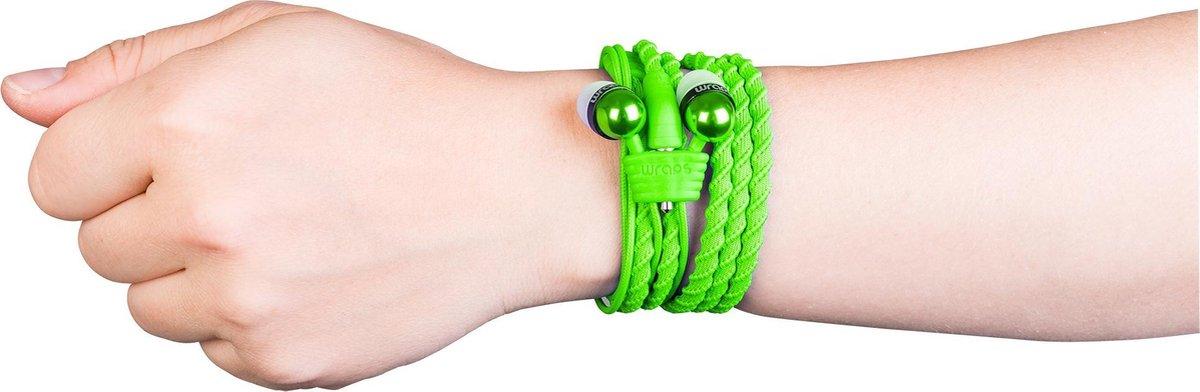 Wraps Classic Cloth Wrap in ear oordopje en armband – Groen