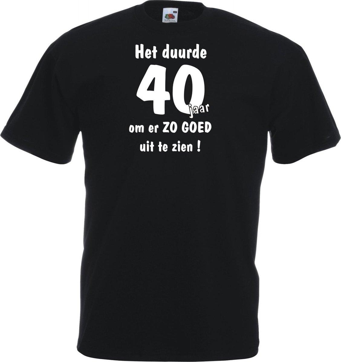 Unisex T-shirt - Het duurde 40 jaar - zwart - maat XXL