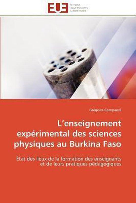 L Enseignement Exp�rimental Des Sciences Physiques Au Burkina Faso