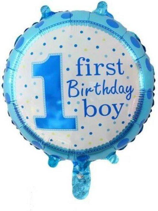 Folieballon First birthday boy 45 cm