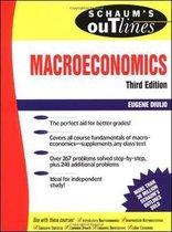 Boek cover Schaums Outline of Macroeconomics van Eugene Diulio