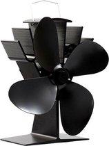 Haardventilator 4 bladen HV-09 - Ecofan houtkachelventilator zwart - Gaskachels & houtkachel - 32% besparing!