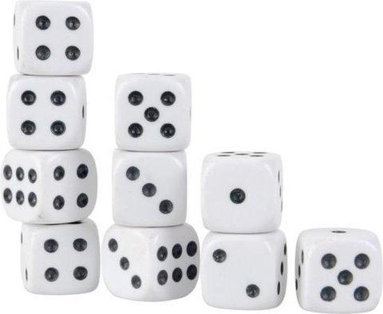 Witte Dobbelstenen Set - 10 Stuks | Dobbelsteen | Dobbelen | Dobbelstenenset Wit  | Yahtzee | Bordspel | Gezelschapsspel | Spelletje | Spelletjes