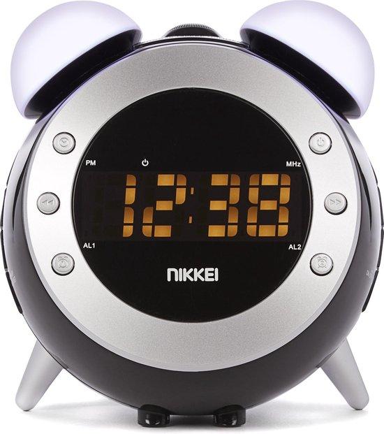 Nikkei NR280P - Wekkerradio met projectie - Zwart