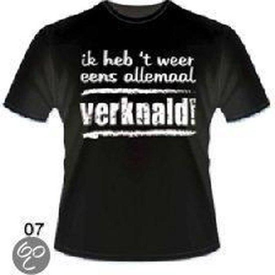 Slogan T-Shirt Maat XL - Ik heb 't weer eens allemaal verknald