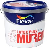 Flexa Latex Plus Witte Muurverf - Muren & Plafonds - Wit - 10 liter