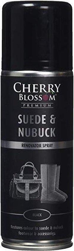 Cherry Blossom Premium Suede And Nubuck Renovator spray zwart 200ml