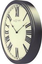 NeXtime Houdini - Klok - Rond - Glas - Ø25.5 cm - Zwart