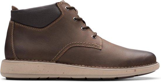 Clarks Un Larvik Top Heren Veterboot - Brown Leather - Maat 43