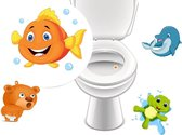 Plassticker Set Beestjes – 4 Stickers - Toiletsticker