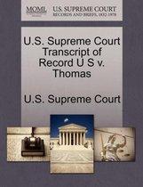 U.S. Supreme Court Transcript of Record U S V. Thomas