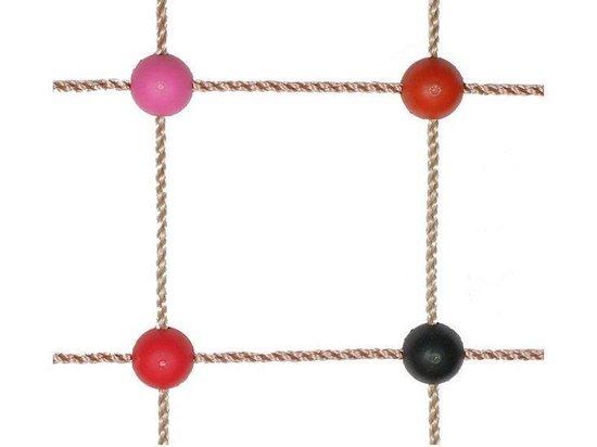Kunststof Kruisverbinding Rood voor Klimnet met schroef - Merkloos