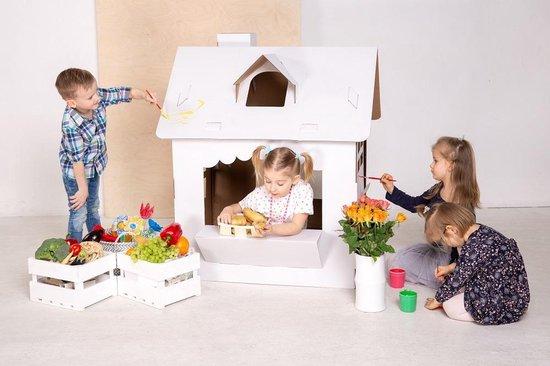 Broozzer Rainbow House karton - Speelhuis