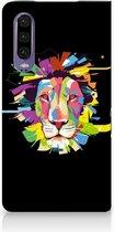 Huawei P30 Uniek Standcase Hoesje Lion Color
