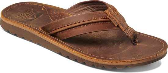 Reef Voyage Lux Heren Slippers - Brown/Brown - Maat 40