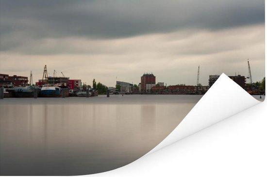 Skyline van de Nederlandse stad Haarlem Poster 180x120 cm - Foto print op Poster (wanddecoratie woonkamer / slaapkamer) / Europese steden Poster XXL / Groot formaat!