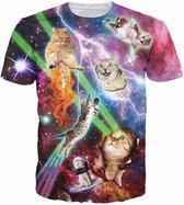 Gigantisch fout katten festival shirt Maat: S Crew neck
