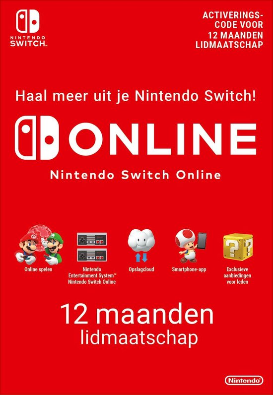 Cover van de game 12 maanden Online Lidmaatschap - Nintendo Switch