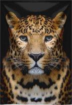MondiArt - Wandkleed Leopard portrait 132x190 cm