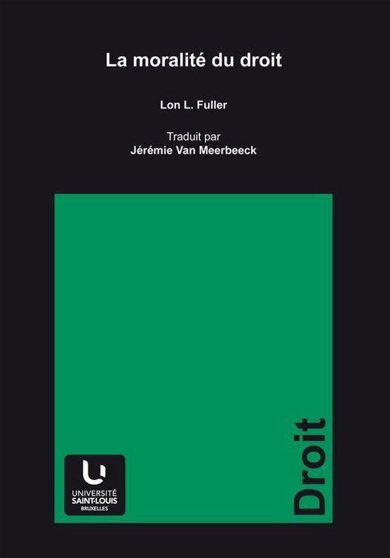 Boek cover La moralité du droit van Lon Luvois Fuller (Onbekend)