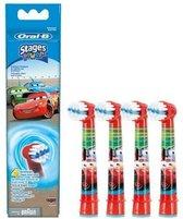 Oral-B Stages Power Kids Cars EB10-4 - 4 stuks - Opzetborstels