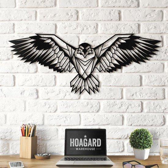 Metalen Adelaar - Muurdecoratie   80 cm x 35 cm   Metal Eagle Wall Decor - Hoagard   Wanddecoratie   Power Animal