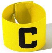 Aanvoerdersband Captainsband - C - Captain Aanvoerder Band - Voetbal Hockey - Geel - Senior