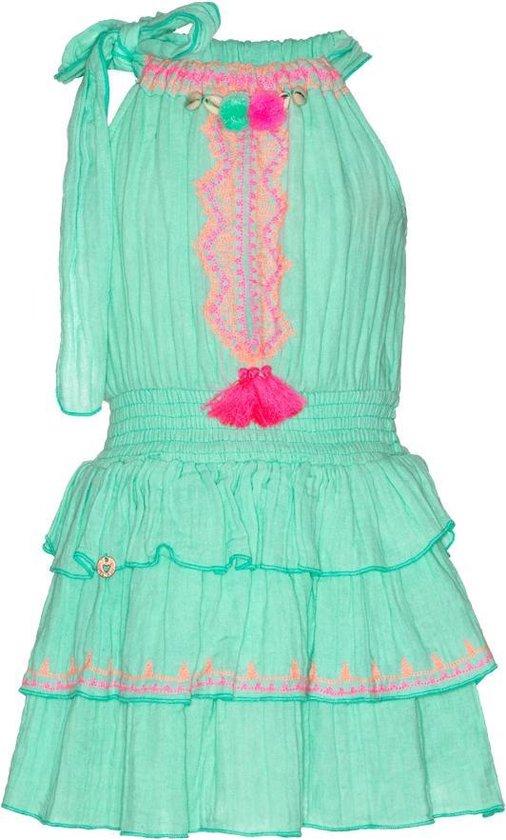 Nieuw bol.com   Mim Pi mint groene meisjes jurk zonder mouwen IM-39