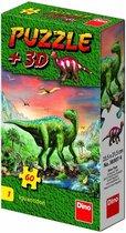 Dino puzzel 60 stuks met figuur Iguanodon
