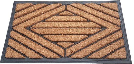 Deurmat Kokos / Rubber 40x70 cm - Ruit