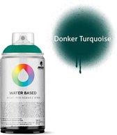 MTN Donker turquoise waterbasis spuitverf - 300ml lage druk en matte afwerking