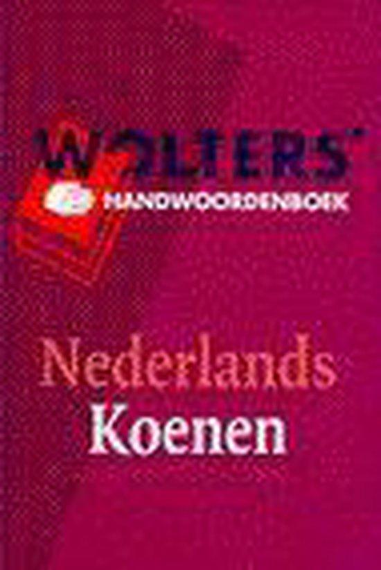 Boek cover Handwoordenboek Nederlands van M.J. Koenen (Hardcover)