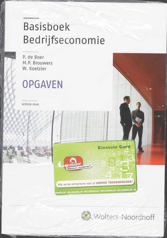 Boek cover Basisboek bedrijfseconomie - opgavenboek van Wim Koetzier (Paperback)