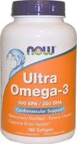 Ultra Omega 3, Enteric Coating - 180 softgels - Now Foods  - Visolie - Voedingssupplement