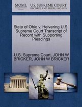 State of Ohio V. Helvering U.S. Supreme Court Transcript of Record with Supporting Pleadings