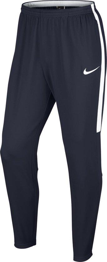 Nike Dry Academy Football Pant - Trainingsbroek - Heren - Maat S -  Obsidian/Obsidian/White/White