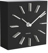 Karlsson Discreet - Tafelklok - MDF - 15 x 15 x 5 cm - Zwart