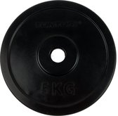Tunturi Halterschijf - Halter gewichten - 1x 5 kg - 30mm - Rubber