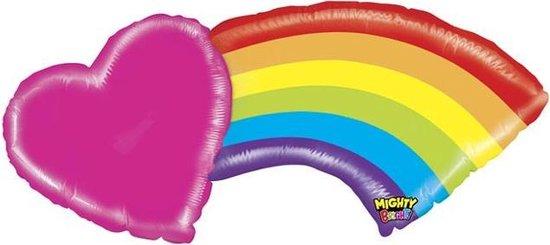 Supershape Regenboog met hart ballon