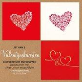 Valentijns wenskaarten (set van 3)