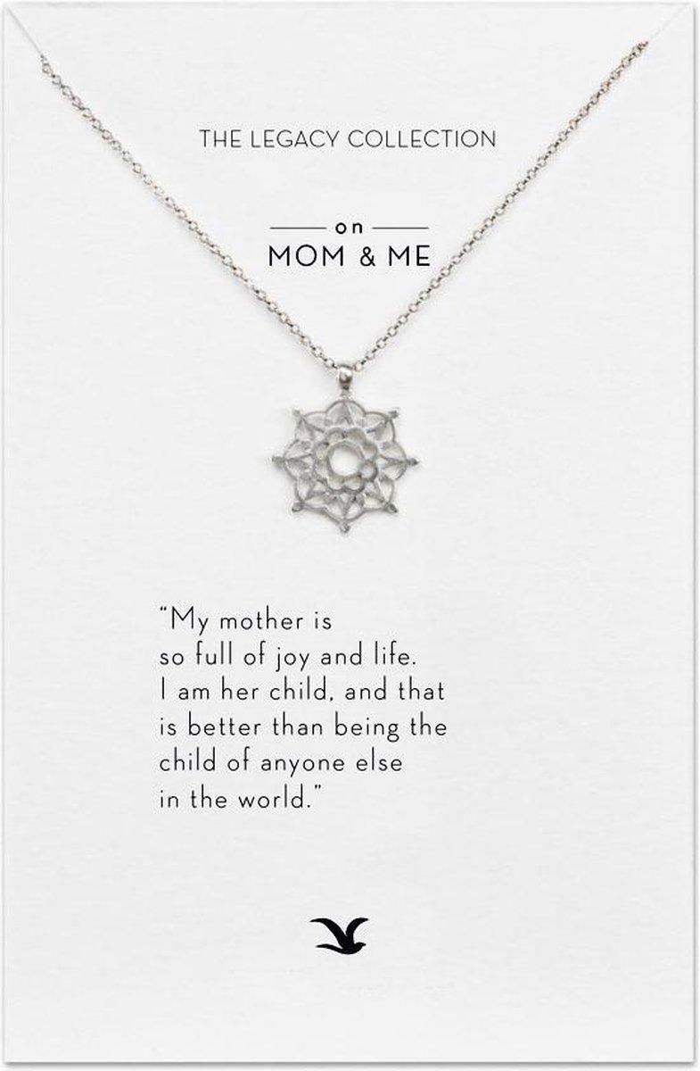 Kaart Mom & Me - met ketting voor mama - wenskaart voor moedr - Merkloos